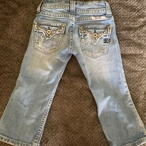 Miss Me Bottoms - Girls size 7 Miss Me cropped jeans